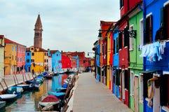 Isla de Burano/de Venecia Fotos de archivo libres de regalías