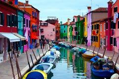 Isla de Burano/de Venecia Fotografía de archivo
