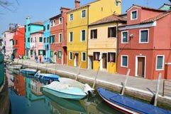 Isla de Burano en Italia Imágenes de archivo libres de regalías