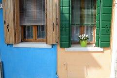 Isla de Burano en Italia Fotos de archivo libres de regalías