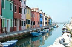 Isla de Burano en Italia Imagen de archivo
