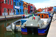 Isla de Burano en Venecia Imagen de archivo libre de regalías