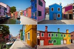 Isla de Burano, Italia Imagen de archivo libre de regalías