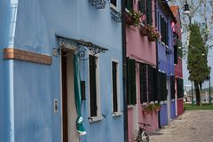 Isla de Burano, Venecia, Italia fotos de archivo libres de regalías