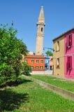 Isla de Burano, Venecia, Italia Imagen de archivo libre de regalías