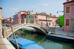Isla de Burano, Venecia, Italia imagenes de archivo