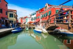 Isla de Burano, Venecia, Italia Foto de archivo libre de regalías