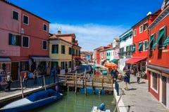Isla de Burano, Venecia, Italia Fotografía de archivo