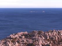 Isla de Caprera y sus costas Foto de archivo