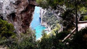 Isla de Capri el verano Imágenes de archivo libres de regalías