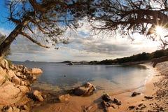 Isla de Cerdeña con las playas hermosas en Italia foto de archivo libre de regalías