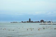 Isla de China Penglai Fotografía de archivo libre de regalías