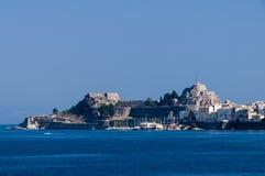 Isla de Corfú en verano Imagen de archivo libre de regalías