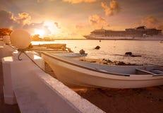 Isla de Cozumel en maya de Riviera de México imagen de archivo