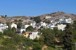 Isla de Crete en Grecia. Aldea de Anogia fotografía de archivo