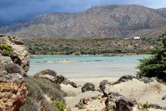 Isla de Elafonisi - Creta, Grecia Imagen de archivo libre de regalías