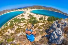 Isla de Elafonisos Foto de archivo libre de regalías