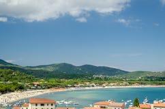 Isla de Elba, Marina di Campo fotos de archivo