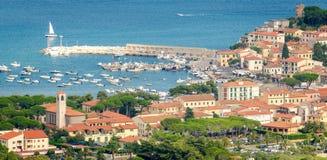 Isla de Elba, Marina di Campo Imagen de archivo libre de regalías