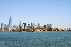 Isla de Ellis New York City Foto de archivo libre de regalías