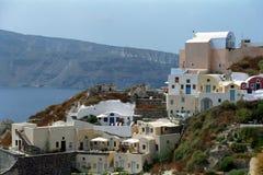 Isla de Fira Santorini, Grecia Foto de archivo libre de regalías