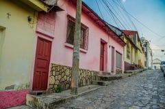 Isla de flores guatemala island central america. Picturesque streets in isla de flores guatemala island central america Stock Images