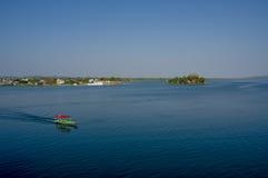 Isla de Flores wyspy Guatemala centrala America zdjęcia stock