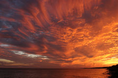 Isla de Fripp, Carolina del Sur, puesta del sol foto de archivo libre de regalías