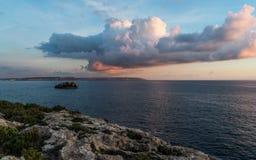 Isla de Gozo de la bahía de Mgarr Ix-Xini foto de archivo