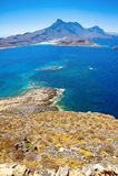 Isla de Gramvousa, Crete, Grecia fotos de archivo