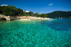 Isla de Grecia - de Lefkada - de Meganisi Imágenes de archivo libres de regalías