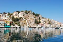 Isla de Greece.The de Symi. Foto de archivo libre de regalías