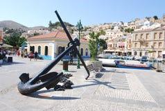 Isla de Greece.The de Symi. Foto de archivo