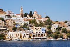 Isla de Greece.The de Symi. Imagen de archivo libre de regalías
