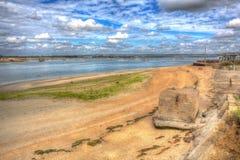 Isla de Hayling del puerto de Langstone cerca de Portsmouth Reino Unido en hdr colorido Fotografía de archivo
