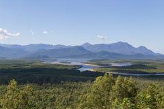 Isla de Hitchinbrook de Bruce Highway Lookout foto de archivo libre de regalías