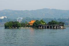 Isla de HU Xin, lago del oeste, caída Fotografía de archivo libre de regalías