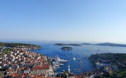 Isla de Hvar en Croacia imagen de archivo