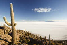 Isla de Incahuasi Fotos de archivo