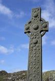 Isla de Iona Ancient Celtic Cross Imagen de archivo libre de regalías