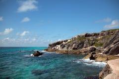 Isla de Isla Mujeres - el punto de Punta Sur también llamó a Acantilado del Amanecer Cliff del amanecer Fotografía de archivo