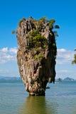 Isla de James Bond en Tailandia Foto de archivo