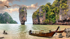 Isla de James Bond, Tailandia Fotografía de archivo libre de regalías