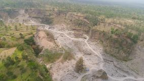 Isla de Jawa del paisaje de la monta?a, Indonesia almacen de metraje de vídeo