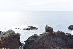 Isla de Jeju que hace frente al Océano Índico Imagen de archivo libre de regalías
