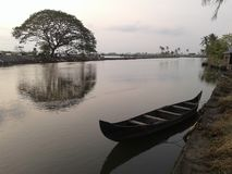 Isla de Kadamakudi Fotos de archivo