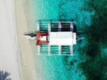 Isla de Kalanggaman desde arriba - de las Filipinas foto de archivo libre de regalías