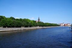 Isla de Kant en el Kaliningrad (Koenigsberg) Imágenes de archivo libres de regalías