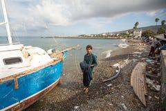 Isla de Kos, Grecia - crisis europea del refugiado Fotografía de archivo