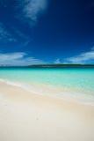 Isla de KURIMA de la playa de MAEHAMA Imagenes de archivo